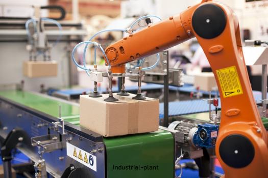 หุ่นยนต์ในโรงงานอุตสาหกรรม